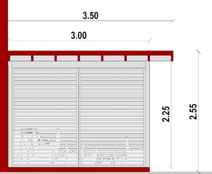 Conception d'un gazébo - vue en coupe d'un auvent issu du logiciel BIM architecture Edificius