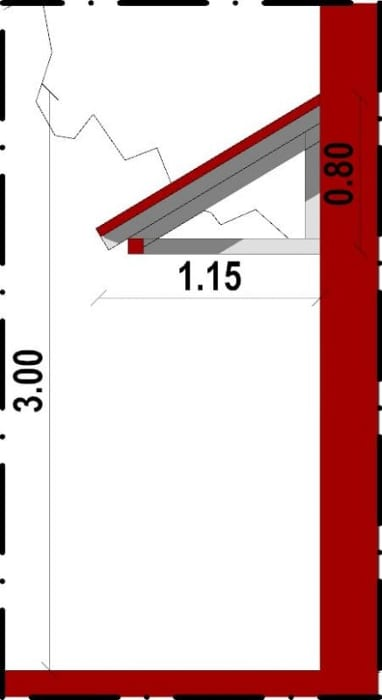 Conception d'un gazébo-vue en coupe d'une marquise issu du logiciel BIM architecture Edificius