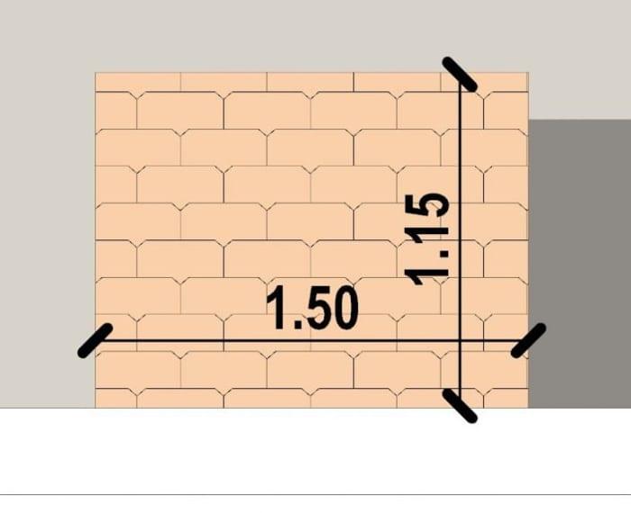 Conception d'un gazébo- vue en plan d'une marquise issu du logiciel BIM architecture Edificius