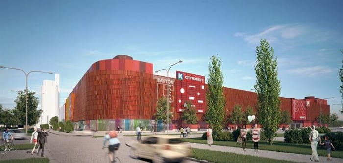 image du nouveau centre commercial de Easton Commercial Center Helsinki
