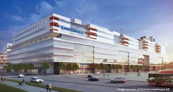 une image qui montre le projet du Karolinska Solna NKS new hospital en Suède
