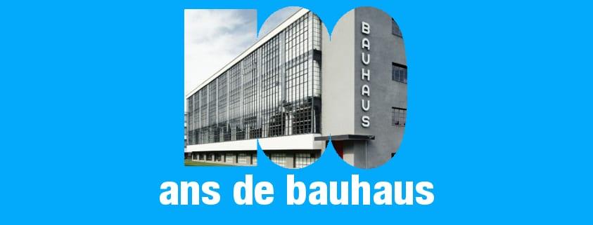 affiche du centenaires de la Bauhaus 1919-2019