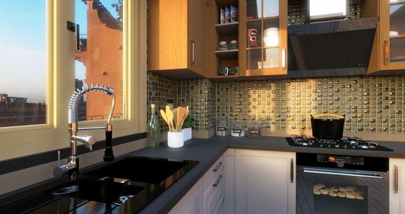rendu plan de travail cuisine - Edificius - logiciel conception architecturale BIM