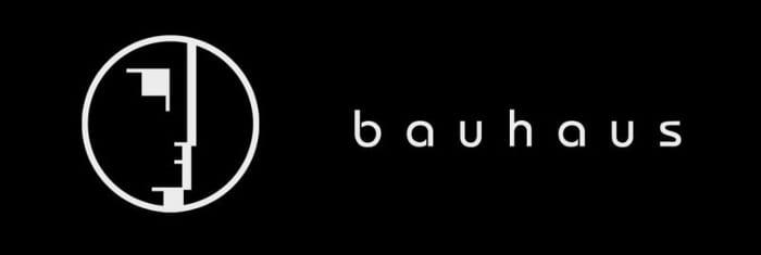l'image représente l'emblème du Bauhaus réalisé par Oskar Schlemmer 1922 - Synthèse des particularités de l'école:rationalité, caractère essentiel des formes, efficacité, centralité de l'homme et de la machine
