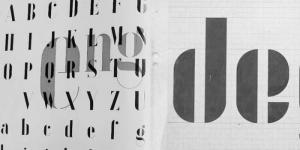 l image montre des lettres qui ont tee créée à l'école de la bauhaus avec un style jamais égalé