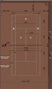 Come progettare impianti sportivi-campo-tennis_PIANTA_software-BIM-architettura-Edificius