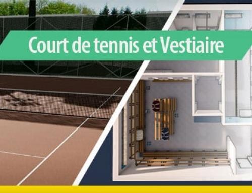 Comment concevoir la construction d'installations sportives : un court de tennis avec des vestiaires