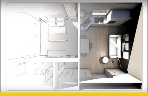 Plan appartement T2 : les critères, les normes et les exemples_Logiciel BIM architecture_Edificius