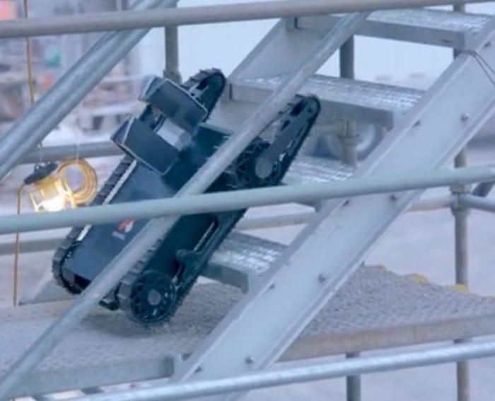 l'image montre le petit robot nommé Doxel pour la productivité du bâtiment