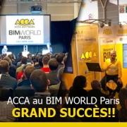 Incroyable succès de ACCA software au BIMWORLD: BIM, Rendu en Temps Réel 3D, VRI et conférences internationales