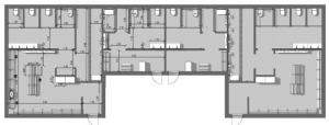 l'image représente une vue du plan des vestiaires d'un centre sportif réalisé avec Edificus le logiciel de conception architecturale