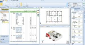 L'image montre une page du logiciel Edificius qui embraque le logiciel PriMus le logiciel de devis et métré BIM 5D