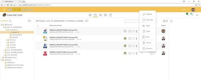 L'image représente l' interface Common Data Environment de usBIM.platform de ACCAsoftware