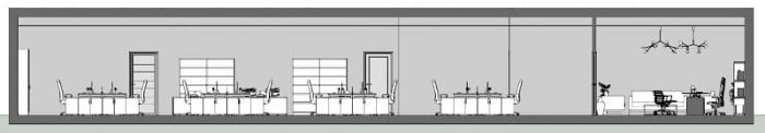 dessin - coupe A-A - logiciel BIM architecture Edificius