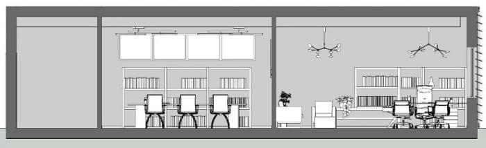 dessin - coupe B-B - logiciel BIM architecture Edificius