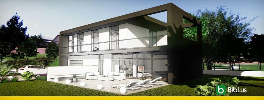 projet d'une maison unifamiliale avec logiciel BIM