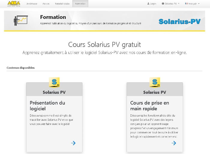 training Solarius PV Francais