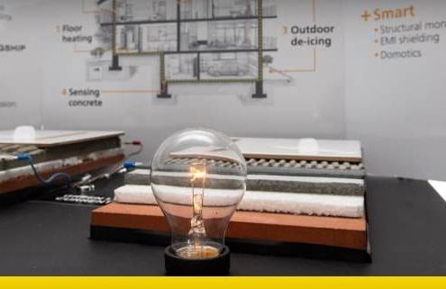 Le béton et le graphène : il réchauffe les maisons et il est aussi conducteur d'électricité !