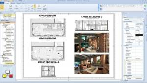 Plan loft - l'image représente un document des plans d'exécution avec ses plans, coupes, élévation, rendu, réalisé avec Edificius le logiciel de conception architecturale