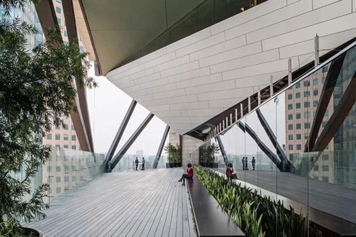 L'image représente la terrasse avec Des poutres de couplage relient les murs en béton armé pour assurer la dissipation de l'énergie, EdiLus logiciel de calcul de structure