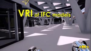 L'image représente la vue de la maquette 3D BIM depuis la réalité virtuelle immersive ou il est possible de s'immerger dans la gare de Naples depuis un casque de réalité virtuelle et de pouvoir vérifier toutes les incohérences du projet, réalisé avec Edificius le logiciel de conception architecturale
