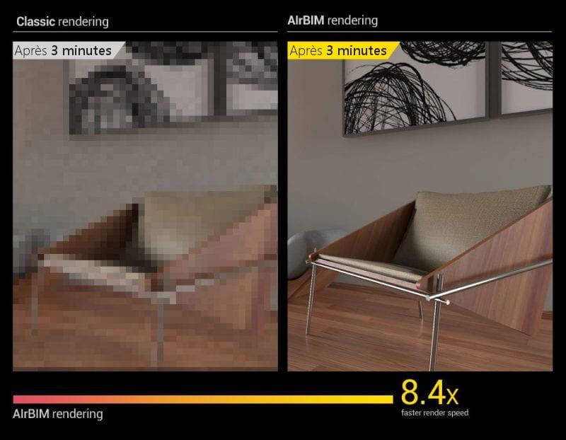 """AMD a """"entraîné"""" son denoiser pour comparer les images bruitées, car les algorithmes d'apprentissage automatique sont utilisés pour """"éliminer"""" le bruit résiduel."""