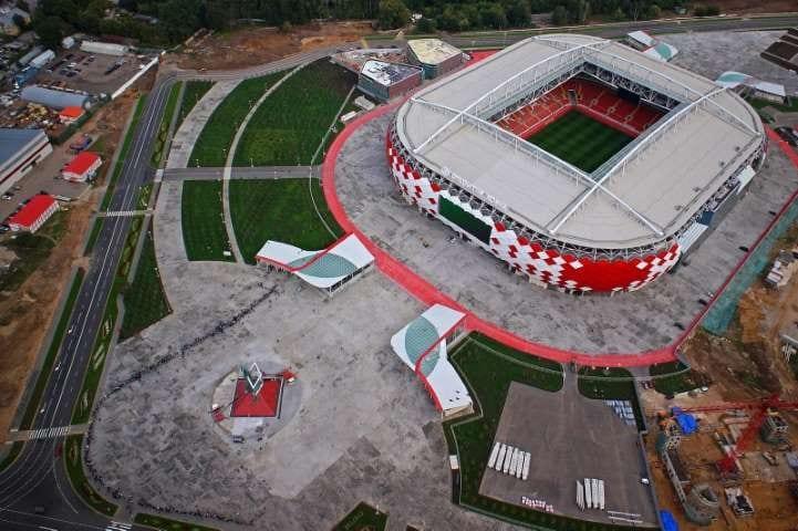 Le BIM dans le monde, l'image représente le stade du Spartak à Tushino, Edificius le logiciel de conception architecturale 3D BIM