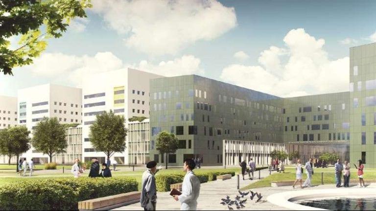 Le BIM dans le monde, l'image représente un rendu de l'hôpital régional de Krasnoïarsk l'un des 3 projets pilotes BIM en Russie, Edificius le logiciel de conception architecturale 3D BIM.