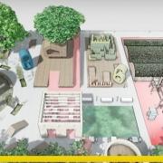 La conception de l'aménagement d'une aire de jeux et un exemple à télécharger