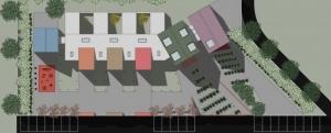 L'image illustre une planimétrie de la crèche produit par Edificius le logiciel de conception architecturale BIM