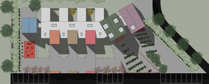 L'image illustre une planimétrie les plans de la crèche produit par Edificius le logiciel de conception architecturale BIM
