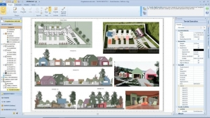 L'image illustre les différents plans d'exécutions de la crèche, produit par Edificius le logiciel de conception architecturale BIM