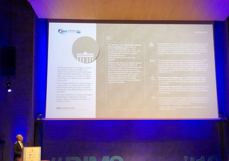 L'image représente la Porte de Brandenburger, dans l'article le BIM en Europe, logiciel usBIM.platform