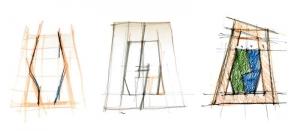 L'image représente des dessins schématisés en plans d'une maison jumelée, réalisé avec Edificius logiciel de conception architecturale.