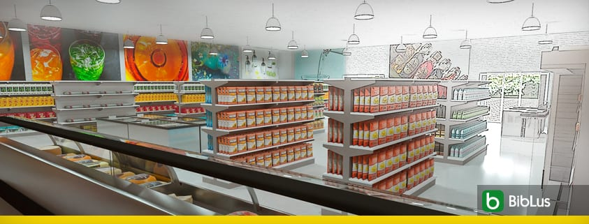 projet supermarché - logiciel BIM architecture