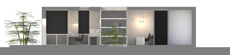 projet cabinet dentaire - coupe réalisée avec Edificius, logiciel de conception architecturale BIM