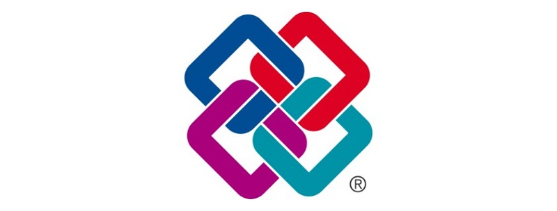 Logo original du format IFC (Industry Foundation Classes) se sont des losange de couleurs différentes qui s'intersecte.