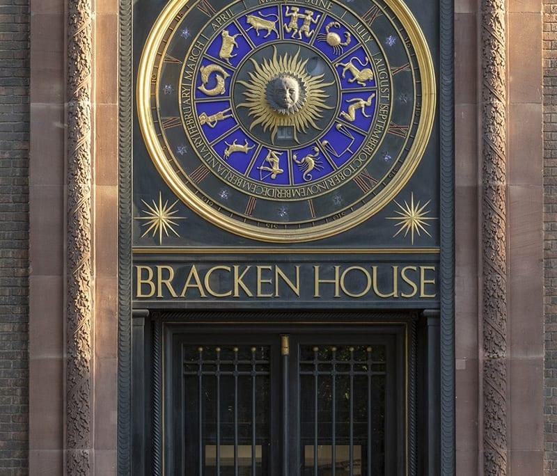 Entrée du bâtiment historique Financial Times © 2020 John Robertson Architects