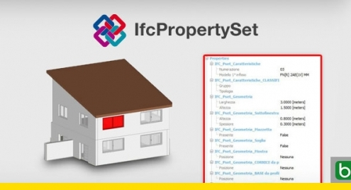 IFCPropertySet logiciel usBIM.viewer+