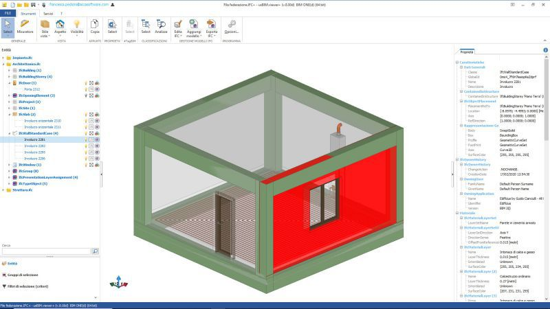 Capture d'écran de Model View Definition issu du logiciel usBIM.viewer+