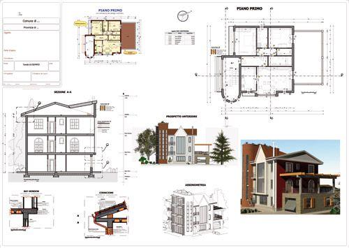 Le BIM c'est quoi Plans d'exécution avec les différentes vue comme plan,coupe, élévation issu de Edificius logiciel de conception architecturale