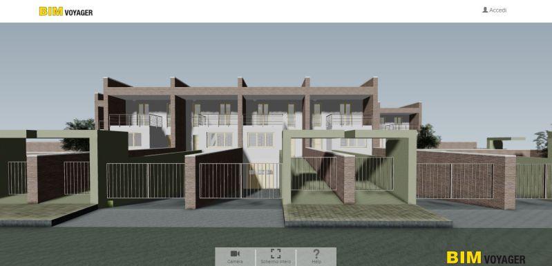 Capture d'écran de la navigation de la modélisation des maison jumelées avec BIM VOYAGER