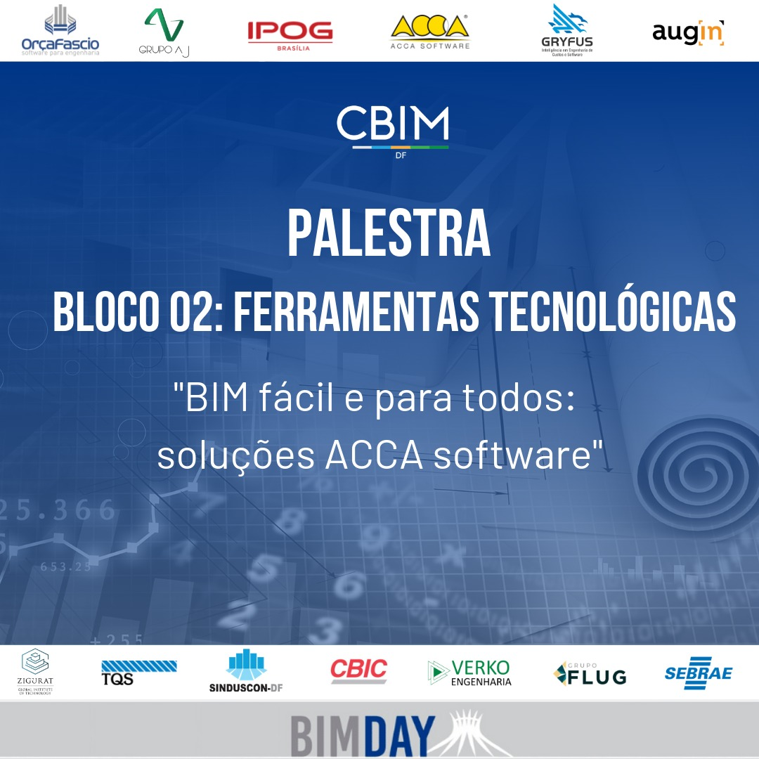 Image montrant le manifeste de la conférence organisée par ACCA lors du BIM DAY à Brasilia
