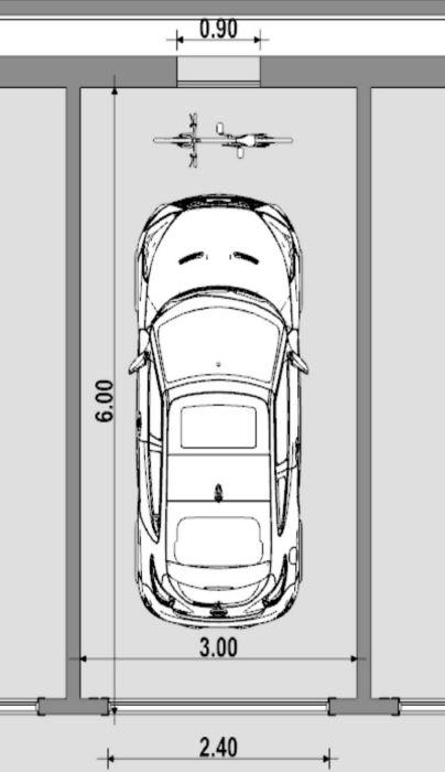 Dessiner plans garage standard - plan conception d'un garage -logiciel BIM Edificius