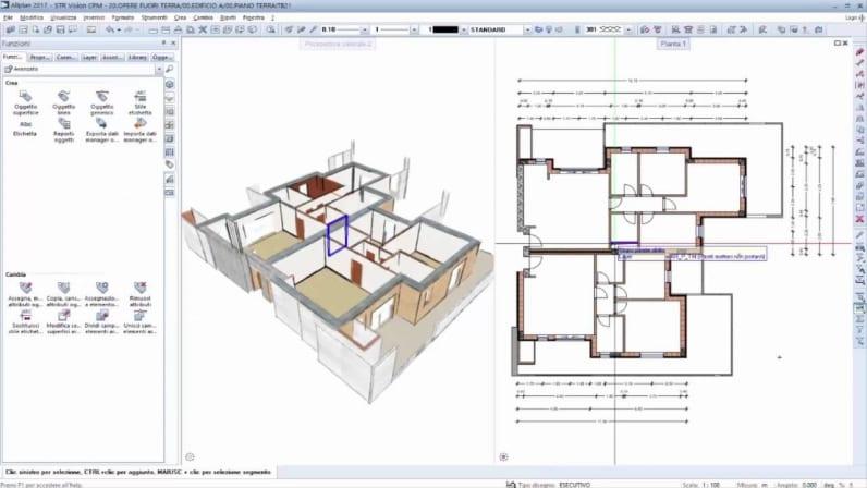 Interface d'Allplan, le logiciel BIM pour l'architecture