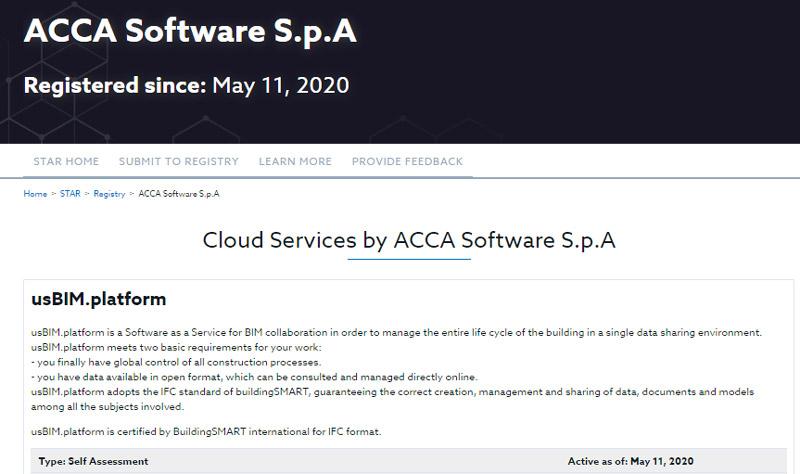 CDE sécurité du cloud usBIM.platform