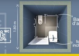 Aménagement d'une salle de bain pour Personnes à mobilité réduite