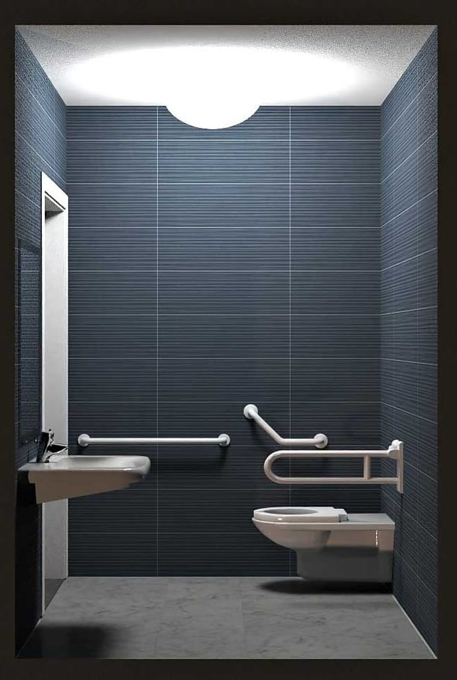 Rendu coupe salle de bain pour PMR - Edificius logiciel conception architecturale BIM