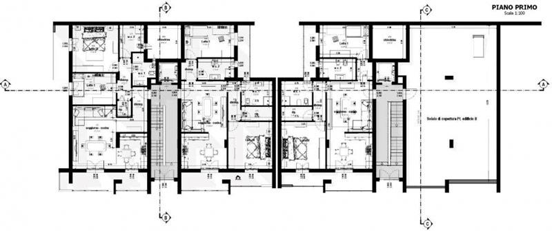 Vue en plan du premier étage issue du logiciel Edificius