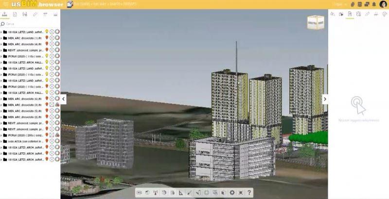 usIFC.server visualisation de la maquette 3D dans la visionneuse usBIM.borwser